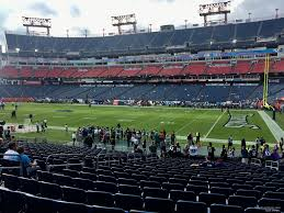 Titans Seating Chart With Rows Nissan Stadium Section 108 Tennessee Titans