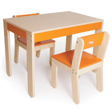 wooden kids table and chairs children little oneu0027s table and chairs orange pkolino yyweebu