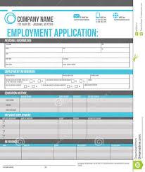 Free Online Job Application Templates Employee Application Template Stock Vector Illustration Of