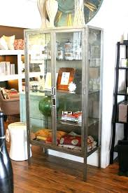 gorgeous tall apothecary cabinet antique steel and glass at what s in home design 1 large c apothecary cabinet