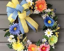 spring wreath for front doorSpring Wreath Summer Wreath for Front Door Summer Wreath for