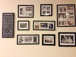 Enchanting Ideas For Living Room Decoration With Black Wood Frame Picture  Collage Wall Image
