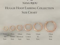 Hoop Earring Chart 50 Earrings Size 10mm Earrings Actual Size Pictures To Pin