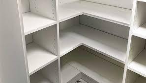 corner shelves for closets diy closet