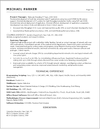 9 Best Images Of Information Technology Resume Examples 2012