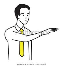 Body Language Meanings Businessman Showing Body Language Raised Hand Stock Vector 691190485