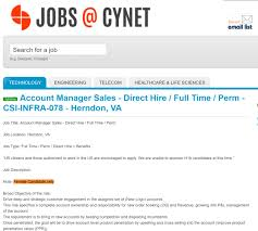 Job Qualification List Recruiting Company Cynet Systems Advertises For Caucasians