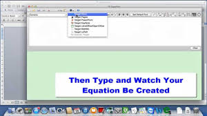 using fx equation on a mac with word