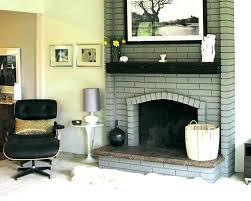 paint fireplace ideas painted brick modern painting color decor medium