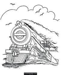 Polar Express Coloring Page Pages And