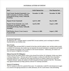 Loi Letter Sample Mesmerizing National Letter Of IntentNational Letter Of Intent Rules Template