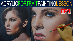 acrylic portrait painting tutorial ep 1 beautiful lady in step by step by jm lisondra