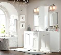 double vanity bathroom rugs ultimate sink storage with hutch pottery barn 1 o