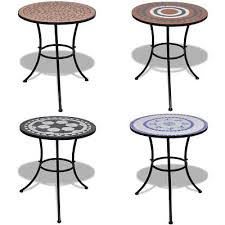 details about mosaic outdoor garden patio balcony coffee table cafe bristo 60cm stone color uk