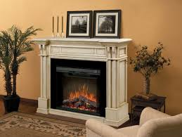 antique dimplex fireplace in white ivory finish