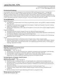 Pharmacist Resume Templates Pharmacist Resume Template Free Sample Professional Clinical 4