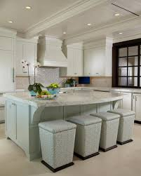 calacatta marble kitchen waterfall: photo by daniel newcomb oversized cerused oak kitchen island topped with calacatta marble