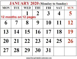 2020 Calendar Free Template 2020 Calendar Template Free Printable Calendar Com
