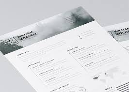 Editable Resume Template Cool 48 Free Editable CVResume Templates For PS AI Photoshop