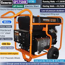 Generac Gp17500e 5735 Review Best 17 500 Watt Portable