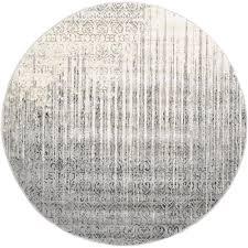 unique loom del mar gray 6 x 6 round rug