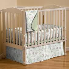 nursery rhyme toile sage mini crib bedding