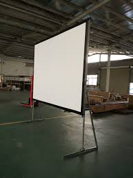 rear projector screen 300 4k portable indoor outdoor theater fast folding screen