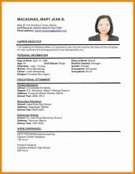 Sample Resume Format Impressive Examples Of Cv Resume How To Write A Cv Curriculum Vitae Sample