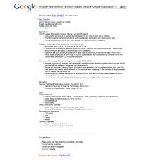 Google Resume Builder A Googlethemed Resume Got Eric Gandhi An Interview With The 50