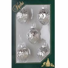 Christbaumschmuck Nüsse Glas Silber