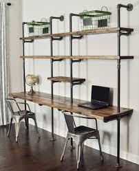Office shelving solutions Corner Shelf Catchy Desk Shelving Ideas And Best 25 Pipe Desk Ideas On Home Decoration Industrial Pipe Desk Plavnicainfo Desk Shelving Ideas Lilangels Furniture