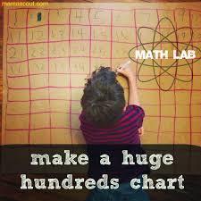 How To Make A Hundreds Chart Mamascout Math Lab Make A Huge Hundreds Chart
