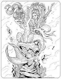 Free Printable Coloring Pages For Adults Mermaids Papers And Essays