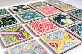 Decorative Tile Coasters Tile Coaster Tutorial The Cottage Mama 2