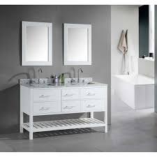 double sink vanity white. design element london 61\ double sink vanity white