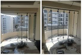 folding sliding glass door for