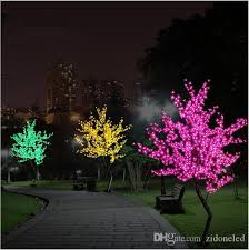 2019 new luz de led cherry blossom tree light luminaria 1 5m 1 8m led tree lamp landscape outdoor lighting for wedding deco from zidoneled