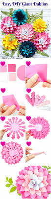 diy paper flowers diy giant dahlia paper flowers how to make a paper flower