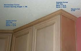 how to cut outside corner molding glamorous how to cut crown moulding for kitchen cabinets for