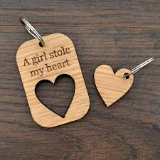 a girl stole my heart valentines day love keyring present for ideas