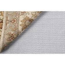 get ations cream colored slip resistant padded liner for a 6 round area throw rug