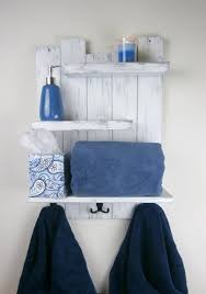 white rustic bathroom shelf farmhouse