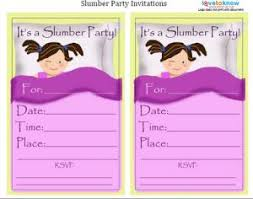 How To Make A Sleepover Invitation Slumber Party Invitations Lovetoknow