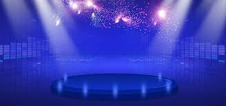 Simple Beautiful Blue Stage Lighting Taobao Themes Stage Show