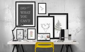 office wall desk. Office Wall Art - Multiple Arts Varied In Size And Theme Desk