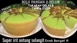Jadi bukan hal yang mengherankan apabila bolu panggang. Resep Bolu Pandan Lembut Tanpa Timbangan Youtube Pandan Cake Bolu Food