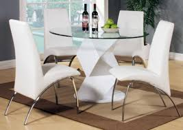 modern round dining room table. Modern Round Dining Table For 6 White High Gloss Glass And Chairs Set Images Room