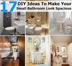 bathroom diy ideas. 17 DIY Ideas To Make Your Small Bathroom Look Spacious   Diycozyworld - Home Improvement And Garden Tips Diy O