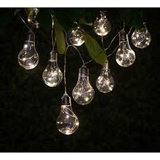 Solar Light Bulb String Lights 10pk Garden Lights BM