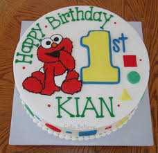 Cake Believe Baby Elmo 1st Birthday